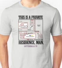 Private Residence - Black Unisex T-Shirt