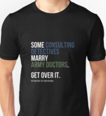 Some Consulting Detectives... - White Text Unisex T-Shirt