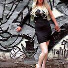 Girl on Graffitti by Ian Coyle