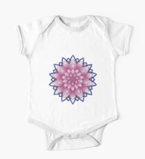 Embroidered pink&purple One Piece - Short Sleeve