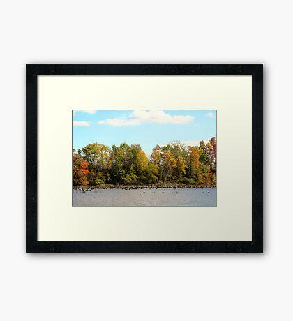 Green Lane Reservoir - East Greenville PA  - USA Framed Print