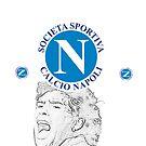 SSC Napoli with Maradona tribute by Joseph Colella