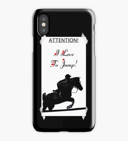 Attention! I Love To Jump! Horse iPhone & iPod Cases iPhone Case