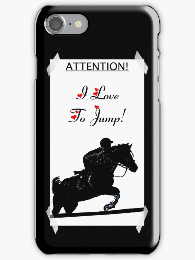 Attention! I Love To Jump! Horse iPhone & iPod Cases by Patricia Barmatz