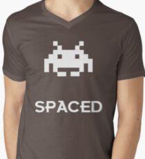 Spaced Mens V-Neck T-Shirt