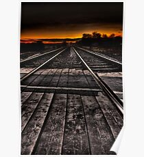Tracks at Sunset Poster