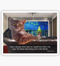 The Most Interesting Cat Sticker