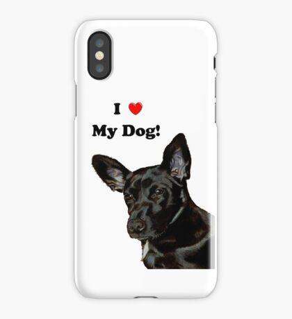 I Heart My Dog! Little Black Dog iPhone & iPod Cases iPhone Case