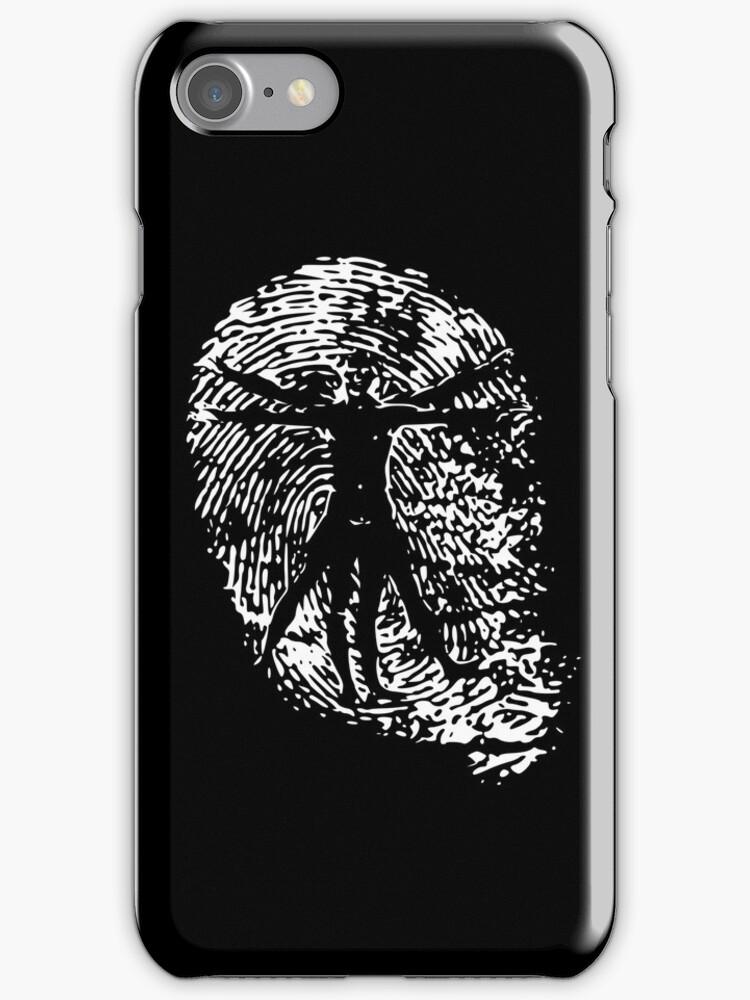 Vitruvian Man Fingerprint (Dark) by spaulfam