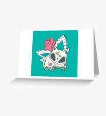 Ivysaur Pokemuerto Greeting Card