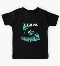 Team KRAKEN (Cyan) Kids Clothes