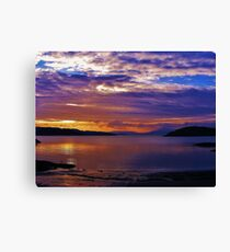 Sunset at Port Appin Canvas Print