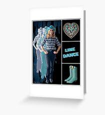 Dance series - Line Dance Greeting Card