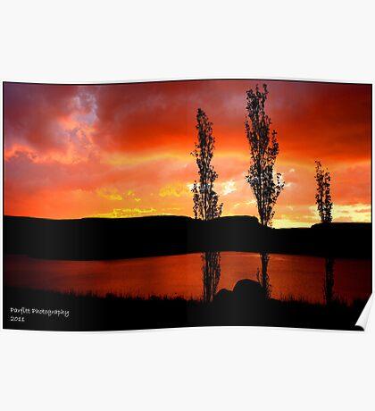 Kwantani, sunset Poster