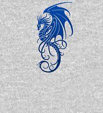 Flying Blue Tribal Dragon Kids Pullover Hoodie