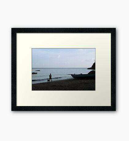 A Quiet Stroll Framed Print