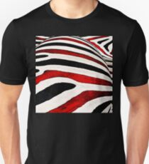 Black & White and Red All Over Unisex T-Shirt