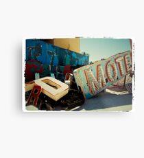 Neon Motel Metal Print
