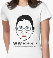What Would Ruth Ginsburg Do? Womens Fitted T-Shirt