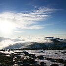 Winter sun over Ben Macdui, Cairngorm & Monadhliath by ScotLandscapes