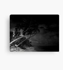 the beach of dark waters Canvas Print