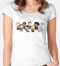 Greendale's Peanuts  Women's Fitted Scoop T-Shirt