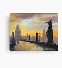 Prague Charles Bridge 01 Canvas Print