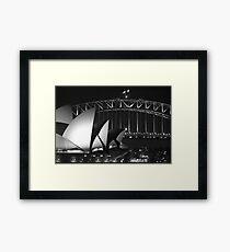 Sydney Harbour Bridge and Opera House Close up Framed Print