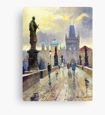 Prague Charles Bridge 02 Canvas Print