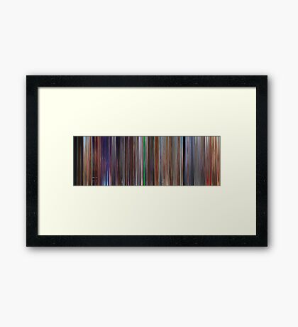 Moviebarcode: Cars 2 (2011) Framed Print