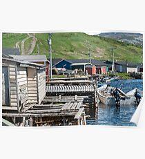 Trout River Newfoundland Harbour Poster