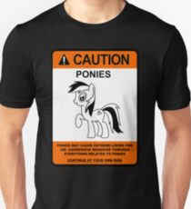caution ponies  T-Shirt