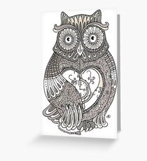 The Timely Owl Greeting Card