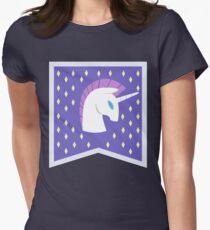 Unicornia Banner Womens Fitted T-Shirt