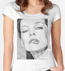 Milla Jovovich Women's Fitted Scoop T-Shirt