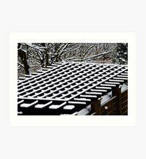 Snow on the Roof Art Print