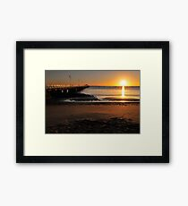 Shorncliffe Jetty. Brisbane, Queensland, Australia.  Framed Print
