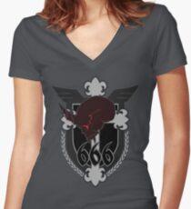666th TSF Squadron Schwarzesmarken Women's Fitted V-Neck T-Shirt