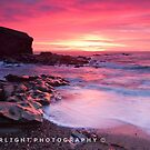 Charlie's Garden -seastack, Collywell Bay by Sheerlight