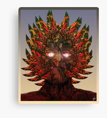 Monster Chief Dip Pen and Ink Drawing  Canvas Print