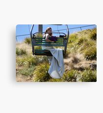 Chairlift fun Canvas Print