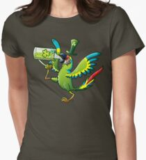 Saint Patrick's Day Macaw Womens Fitted T-Shirt