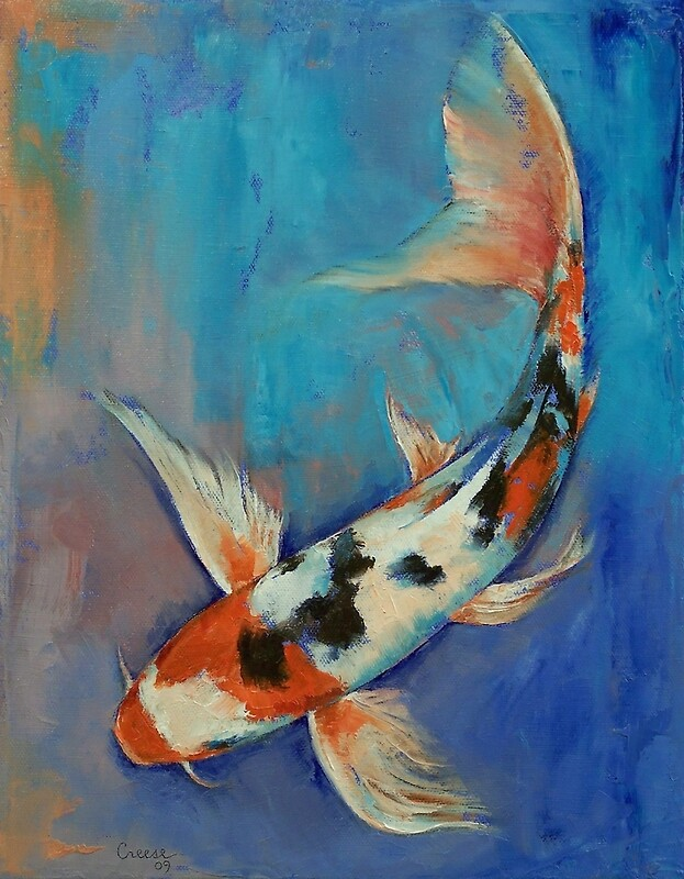 Sanke butterfly koi photographic prints by michael for Michael koi pond