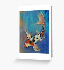 Sanke Butterfly Koi Greeting Card