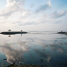 dawn pagoda islands off sanur by Michael Brewer