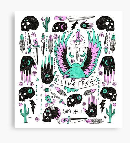 Live Free Canvas Print