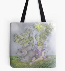 Visiting the Rabbit's Nest Tote Bag
