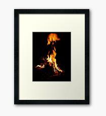 Flaming soul Framed Print