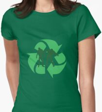 Even Zombies Recycle Womens Fitted T-Shirt
