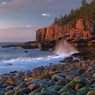 Otter Cliffs At Dawn 3 by Stephen Vecchiotti